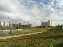 Mieszkaniowy okręg w nowym mieście Obraz Royalty Free