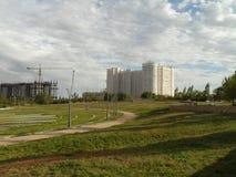 Mieszkaniowy okręg w nowym mieście Zdjęcie Stock