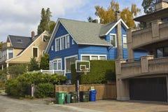 Mieszkaniowy sąsiedztwo Seattle WA. Zdjęcia Stock