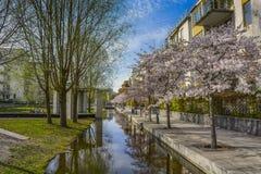 Mieszkaniowy sąsiedztwo teren Hammarby, Sztokholm Fotografia Stock