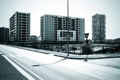 mieszkaniowy terenu monochrom Zdjęcia Royalty Free