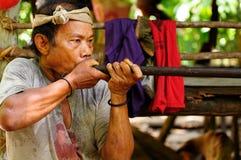 Mieszkanowie Indonezyjska wyspa Borneo Obrazy Royalty Free