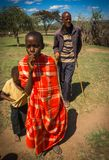 Mieszkanowie Masai wioska, Kenia Obrazy Stock