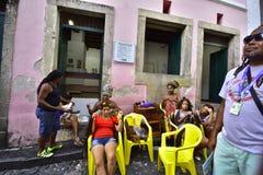 Mieszkanowie Salvador Brazylia zdjęcie royalty free