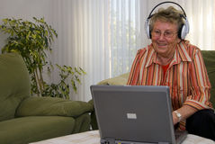 śmieszna babcia Zdjęcia Royalty Free