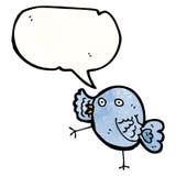 śmieszna błękitna ptasia kreskówka Zdjęcia Stock