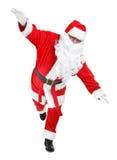 śmieszna Claus poza Santa Zdjęcie Royalty Free