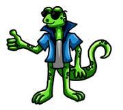 Śmieszna dyskoteki jaszczurka ilustracja wektor