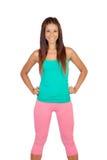 Śmieszna dziewczyna w sportswear Fotografia Stock