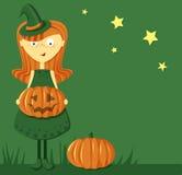 Śmieszna Halloweenowa Dziewczyna Obrazy Stock