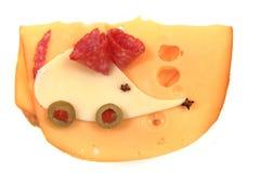 Śmieszna kanapka dla dzieci (mysz) Zdjęcia Stock