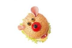Śmieszna kanapka dla dziecka Fotografia Royalty Free