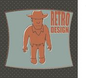 Śmieszna kowbojska wektorowa ilustracja Obraz Stock