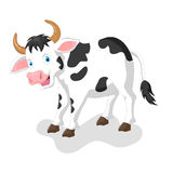 śmieszna kreskówki krowa Obrazy Stock