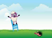 Śmieszna kreskówki scena Ilustracja Wektor