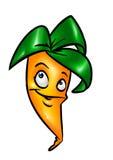 Śmieszna kreskówki marchewka Fotografia Stock