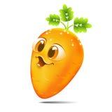Śmieszna kreskówki marchewka Obraz Stock