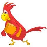 śmieszna kurier papuga Zdjęcie Stock