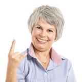 Śmieszna starsza kobieta Obraz Royalty Free