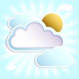 Śmieszne chmury z miejscem dla teksta Zdjęcie Stock