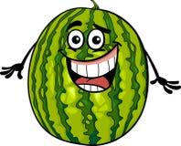 Śmiesznego arbuza kreskówki owocowa ilustracja Obraz Stock