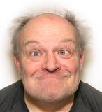 Śmiesznej twarzy Stary mężczyzna Obraz Stock