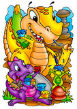 Śmieszni dinosaury Zdjęcia Royalty Free
