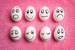 śmieszni Easter jajka Zdjęcia Stock