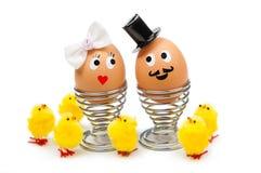 Śmieszni Easter jajka Obrazy Royalty Free