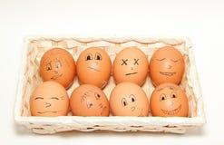 Śmieszni jajka Obrazy Stock