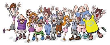 Śmieszni partyjni ludzie. Zdjęcie Stock