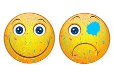 Śmieszni smileys Zdjęcia Royalty Free