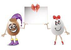 Śmieszni Wielkanocni jajka Ilustracja Wektor