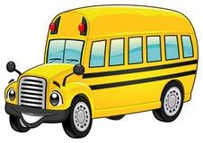 Śmieszny autobus szkolny. Fotografia Stock