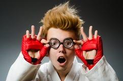 Śmieszny bokser w sporcie Zdjęcia Stock