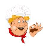 Śmieszny chef.Face ilustracji