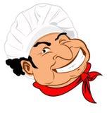 Śmieszny chef.Face royalty ilustracja