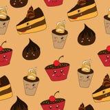 Śmieszny deseru wzór Zdjęcia Stock