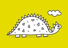 ?mieszny dinosaur, dzieci?cy styl Nakre?lenie dla tw?j projekta ilustracji