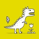 ?mieszny dinosaur, dzieci?cy styl Nakre?lenie dla tw?j projekta royalty ilustracja