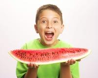 śmieszny dziecko arbuz Fotografia Stock