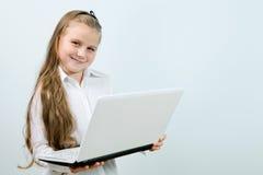 śmieszny dziewczyny śmieszny laptop Obrazy Stock