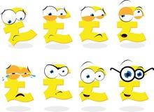 Śmieszny Funtowy Symbol Fotografia Stock