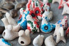 Śmieszny gliniany ptak Zdjęcie Royalty Free