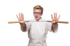 Śmieszny karate wojownik Obrazy Royalty Free