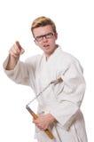 Śmieszny karate wojownik Fotografia Royalty Free