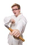 Śmieszny karate wojownik Zdjęcia Stock