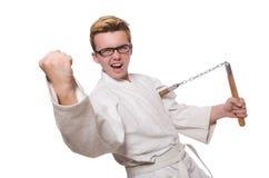 Śmieszny karate wojownik Zdjęcia Royalty Free