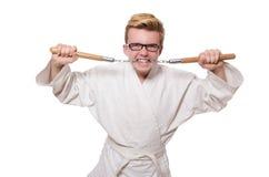 Śmieszny karate wojownik Fotografia Stock