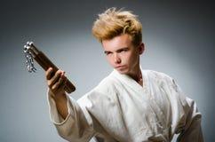 Śmieszny karate wojownik Zdjęcie Royalty Free